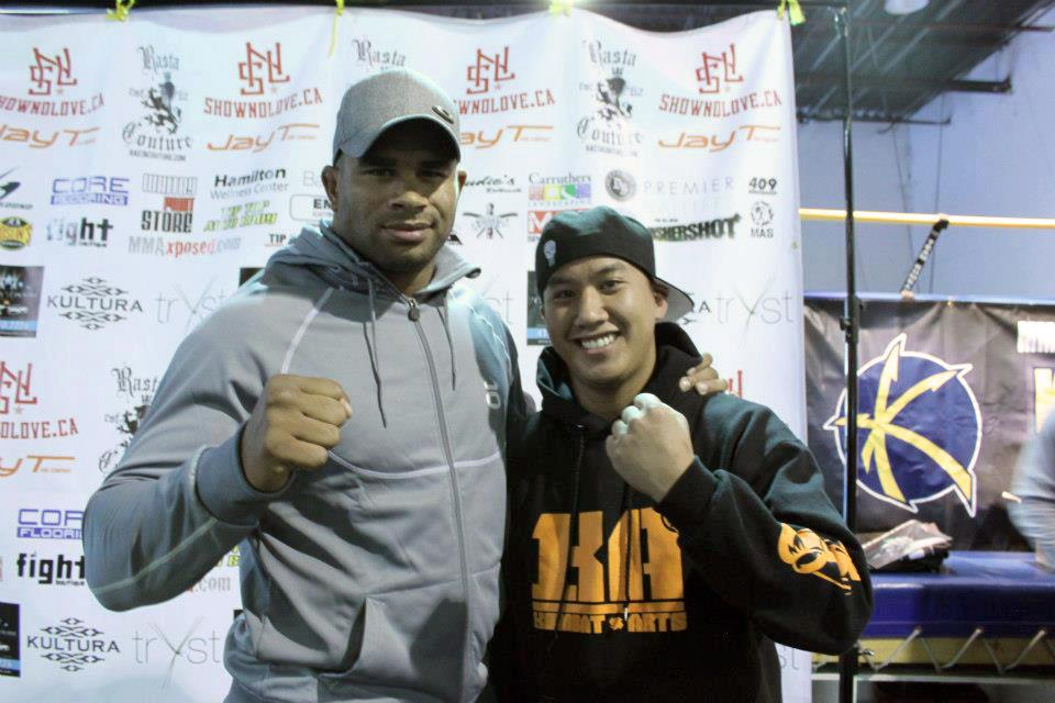 Alistair Overeem with Kombat Arts athlete Jacques